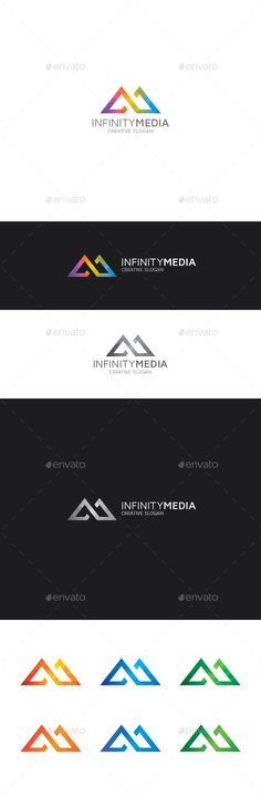 Infinity M Letter Logo - Letters Logo Templates