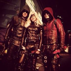 Oliver Queen (the Green Arrow)  Laural Lance (Black Canary) Roy Harper (Arsonal)