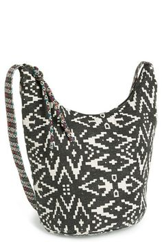 Lulu Geo Print Canvas Crossbody Bag (Juniors) (Online Only) available at #Nordstrom