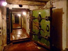 The entry to the bunker for naval operations was hidden in a wooded area...