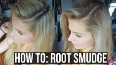 DIY Balayage, Sombre, Root Smudge Blonde hair with. DIY Balayage, Sombre, Root Smudge Blonde hair with Dark Roots Blonde Hair At Home, Blonde Hair With Roots, Bilage Hair, Plum Hair, Ashy Hair, Hair Comb, Curly Hair, Strawberry Blonde Hair Color, Ombre Hair Color