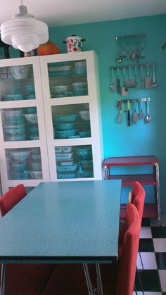 Turquoise Pyrex Collection by *pyrex*pixie*
