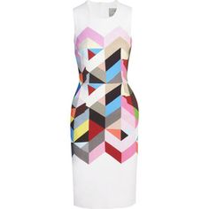 Preen by Thornton Bregazzi Issy printed stretch-crepe dress