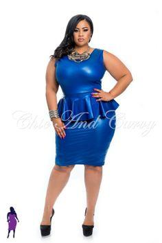 New Plus Size Sleeveless Royal Blue Liquid Peplum Dress available at: http://www.chicandcurvy.com/bodycons/product/9870-new-plus-size-sleeveless-royal-blue-liquid-peplum-dress-1x-2x-3x Model: Janna Plus Model MUA: Make Me Blush - Makeup By Jillian Bianca Hair: Tiffany Brooks Photographer: Lesley Pedraza Photography