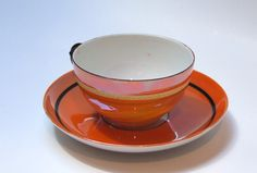 Vintage Lustreware Teacup and Saucer by Rudolf Wachter by APatriot, $16.00