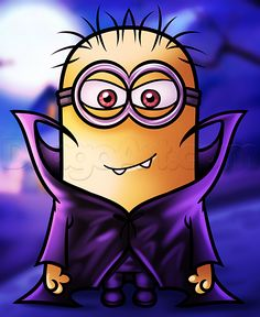 How to Draw a Halloween Minion, Step by Step, Halloween, Seasonal, FREE Online Drawing Tutorial, Added by Dawn, September 11, 2014, 3:32:17 am