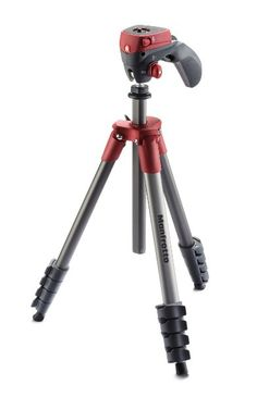 Photo of the Manfrotto MKCOMPACTACN-RD Compact Action Tripod