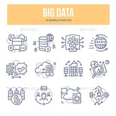 Illustration about Doodle line icons of big data technology, processing information, analyzing statistics. Illustration of icon, business, connection - 84058422 Data Logo, Data Icon, Data Architecture, Big Data Visualization, Big Data Technologies, Doodle Icon, Best Icons, New Gadgets, Line Icon