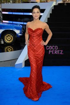 Michelle Rodriguez stuns at the London Fast & Furious 6 premiere.