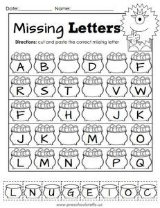 March Printable Packet - Kindergarten Literacy and Math. Missing Number Cut and Paste. Makinson) by Andrea Rivers Brown Number Worksheets Kindergarten, Preschool Math, Kindergarten Worksheets, Math Activities, Printable Worksheets For Kindergarten, Worksheets For Preschoolers, Kids Printable Activities, Counting Worksheet, Phonics