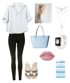 """""""Untitled #21"""" by marleykays ❤ liked on Polyvore featuring Topshop, Kate Spade and Lime Crime"""
