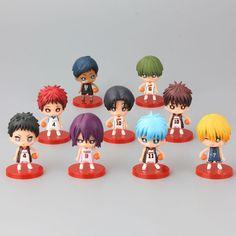 JP Anime Kuroko No Basket PVC Action Figure Collectible Model Toys Boys Gift 9 pcs/Set 6-8 CM
