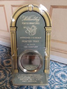 Stieff Williamsburg Approved Miniature Pewter SERVING TRAY #92079 NIP OOP Edged #Stieff X Z