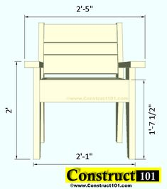 outdoor chair plans front view