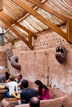 Dining in the atacama desert town of San Pedro at La Estaka.