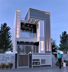Amazing House Design Ideas For 2020 - Engineering Discoveries Modern Exterior House Designs, Modern Small House Design, Cool House Designs, Exterior Design, 3 Storey House Design, Bungalow House Design, House Front Design, Architectural House Plans, Home Room Design