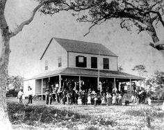 Visitors at Peacock Inn - Coconut Grove, Florida (Christmas 1886)