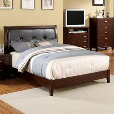 Enrico I Eastern King Bed CM7068BRC-EK