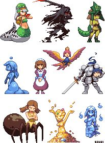 Monster Girl Sprites 2 @ PixelJoint.com