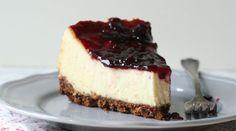 Foolproof Cheesecake | Recipes - PureWow (includes 3 lbs cream cheese, heavy cream, sour cream, eggs, lemon zest)