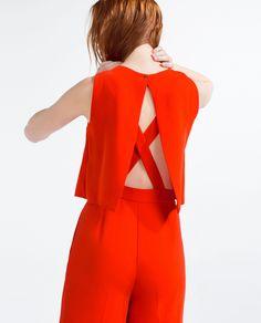 Red jumpsuit | ZARA