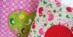 """Tante Ema® Baumwollstoffe aus der Kollektion """"Breezy Birds"""". Wunderbar für besondere DIY-Projekte."""
