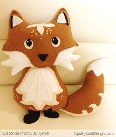 Fox Template | Fox Felt Template Felt-fox-pattern-squishy-cute-