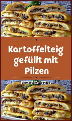 Kartoffelteig gefüllt mit Pilzen Potato dough and a delicious mushroom, carrot and onion filling. If you have mashed potatoes from the previous day, he shouldn't be in the trash yet! Quick Easy Desserts, Easy Dinner Recipes, Easy Meals, Healthy Chicken Recipes, Soup Recipes, Vegan Recipes, Beef Recipes, Dairy Free Custard, Vegan Dumplings