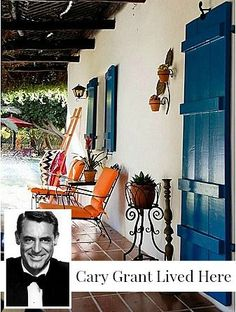 Liked idea about Spanish Furniture: That blue!!!! Cary Grant's Former Home in Palm Springs | hookedonhouses.net