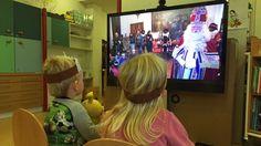 Sint digitaal bij zieke kindjes in Elkerliek ziekenhuis Helmond. #ob