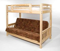 Freedom Futon Bunk Bed Frame - Ecofriendly Solid Pine