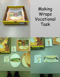 Making Wraps is a vocational task to help students learn customer service skills