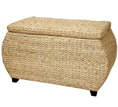 "Oriental Furniture 31-Inch Rush Grass Storage Chest by ORIENTAL FURNITURE. $88.00. Part of a distinctive collection of beautiful woven rush grass furnishings. Solidly built kiln dried wood frame, fine white cotton lining. 31.5""w by 16""d by 17.5""h, beautifully crafted woven rush grass trunk. A simple, beautiful, woven rush grass decorative trunk, with a hinged lid and white cotton lining. part of a unique collection of beautiful woven rush grass furniture and décor, including..."