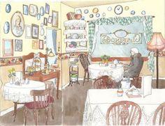 Tea houses, tea time, & this artist named Vivian Swift.