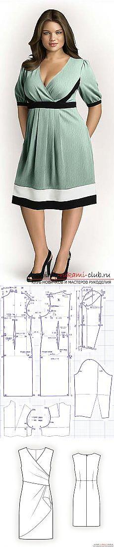Aprende a hacer patrones simples y complejos vestidos elegantes para obesos.