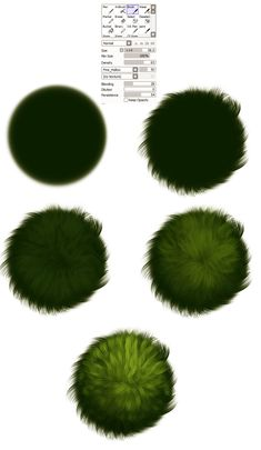 Grass brush settings -  tutorial by ryky.deviantart.com on @deviantART