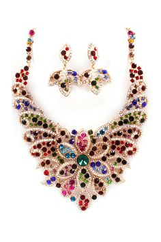 Melody Crystal Statement Necklace Set on Emma Stine Limited  - this would go with just about anything dressy