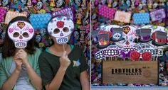 Fiesta Cinco de Mayo Dia de los Muertos printable Photo Booth Props Mustaches on a stick