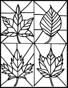 Make it easy crafts: Kid's Craft- stained glass leaves free printable crafts for kids for teens to make ideas crafts crafts