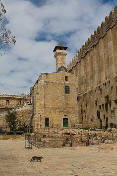 The minaret of the Ibrahimi Mosque in Hebron.