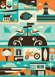 Far North Art Print by Greg Straight - All Prints NZ Art Prints, Art Framing Design Prints, Posters & NZ Design Gifts