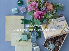 vintage french velvet ring box- NEED one of these for my proposal