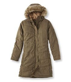 #LLBean: Microsuede Quilted Coat Root Bear, petite medium- i NEED a super warm coat now that we've moved! winter is unbearable! this can still keep someone warm at -40 & still is cute!