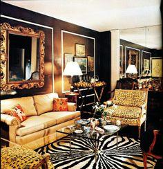 Ferris Megarity's Manhattan apartment. Architectural Digest, March/April 1975, Richard Champion photographer.