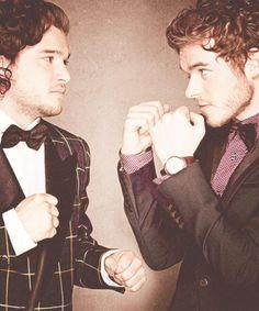 Kit Harrington and Richard Madden. No need to fight boys. I love you both lol.
