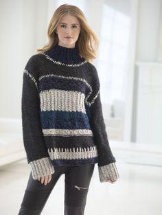 Color Block Sweater - Free Knitting Pattern