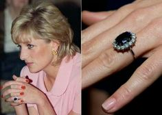 - Photo - Kate Middleton's jewellery collection: Diana's engagement ring, sapphire earrings and the duchess's best necklaces, bracelets and rings Diana Engagement Ring, Celebrity Engagement Rings, Princess Diana Wedding, Princess Diana Family, Gold Diamond Earrings, Sapphire Earrings, Jewelry Box, Silver Jewelry, Jewellery