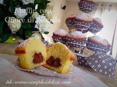Muffin con Cuore di Nutella ❤️ - Semplici Delizie