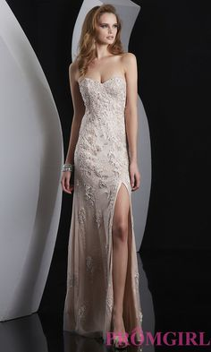 Image of Lace Embellished Sweetheart Prom Dress  Style: JZ-5100 Front Image