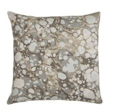 A unique pillow, that has an intricate pattern in all neutrals with a contrast of lights and darks. This fascinating pillow would be great in any space. Size: X White Micro Cord Feather Down Made in the USA